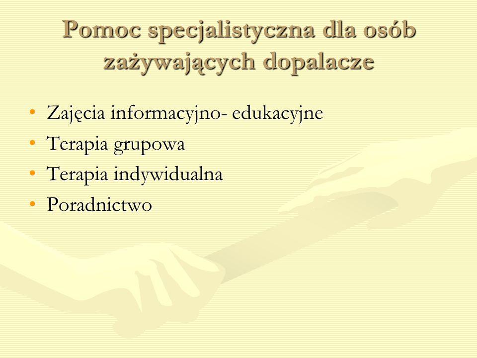 Pomoc specjalistyczna dla osób zażywających dopalacze