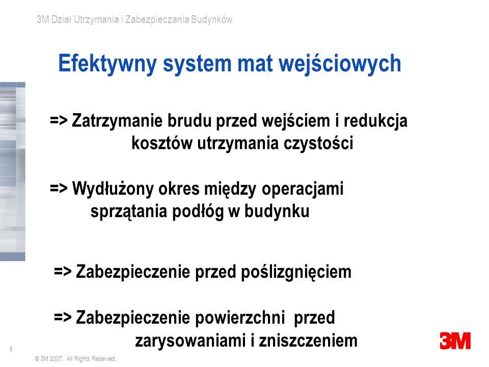 Efektywny system mat wejściowych
