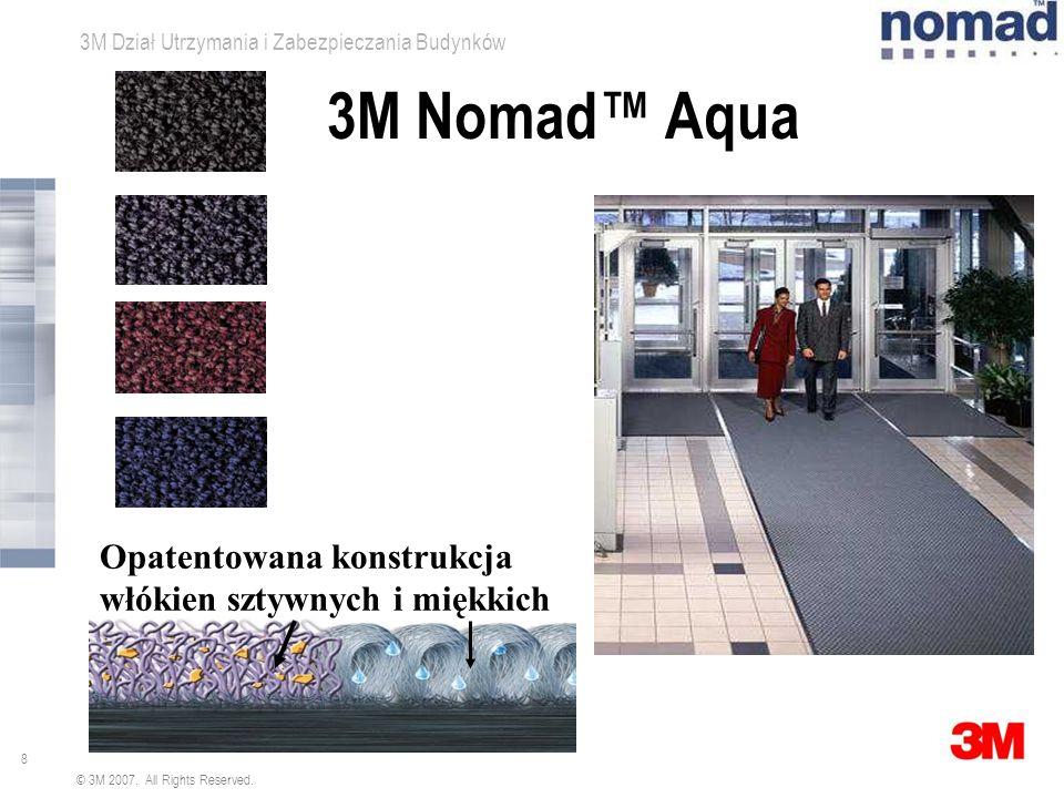 3M Nomad™ Aqua Opatentowana konstrukcja włókien sztywnych i miękkich
