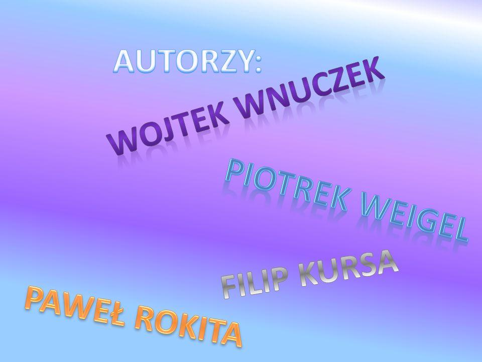 AUTORZY: WoJTEK WNUCZEK Piotrek Weigel FILIP KURSA PAWEŁ ROKITA