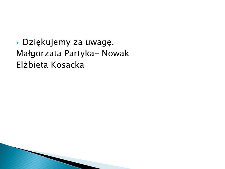 Dziękujemy za uwagę. Małgorzata Partyka- Nowak Elżbieta Kosacka