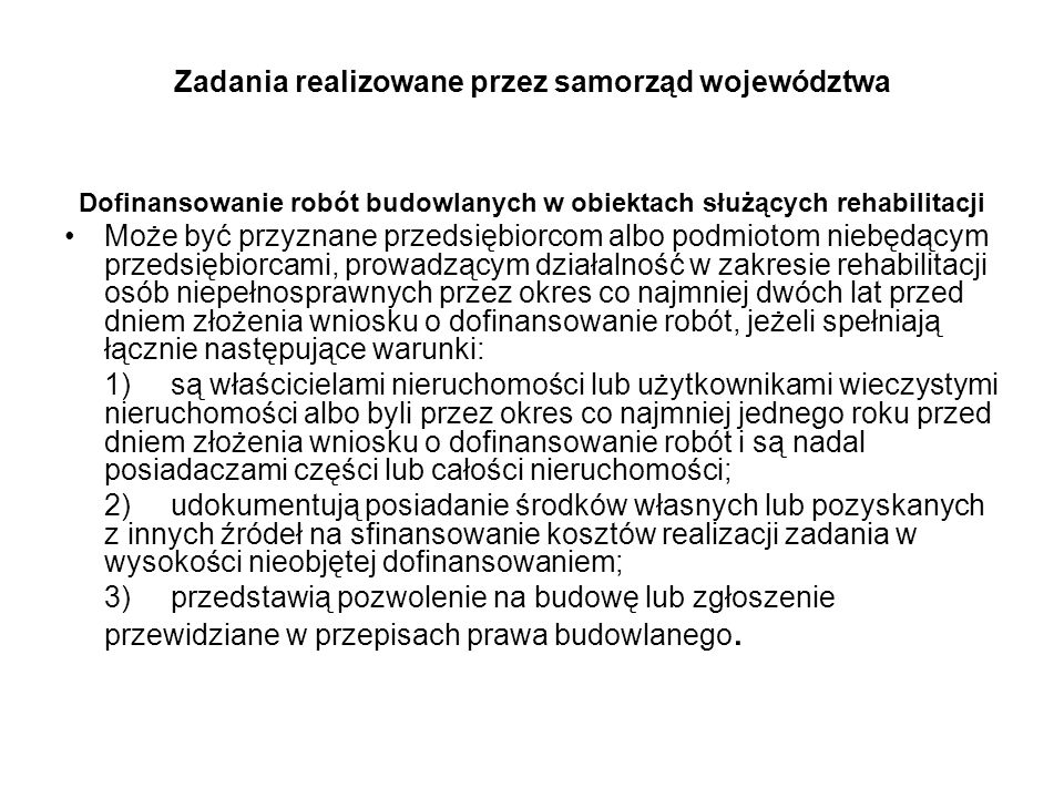Zadania realizowane przez samorząd województwa