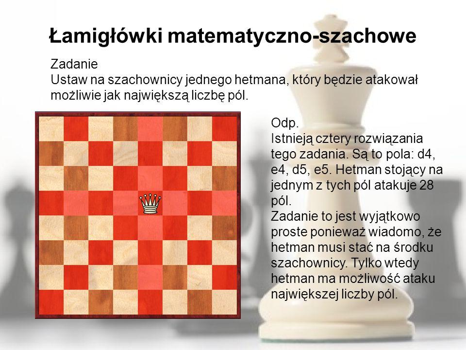 Łamigłówki matematyczno-szachowe