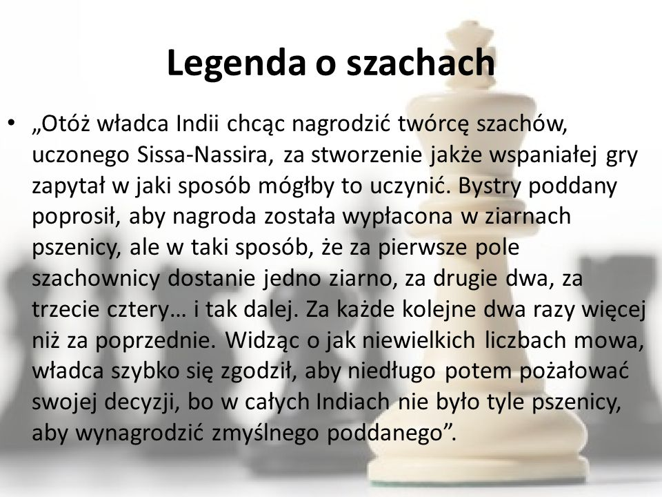 Legenda o szachach