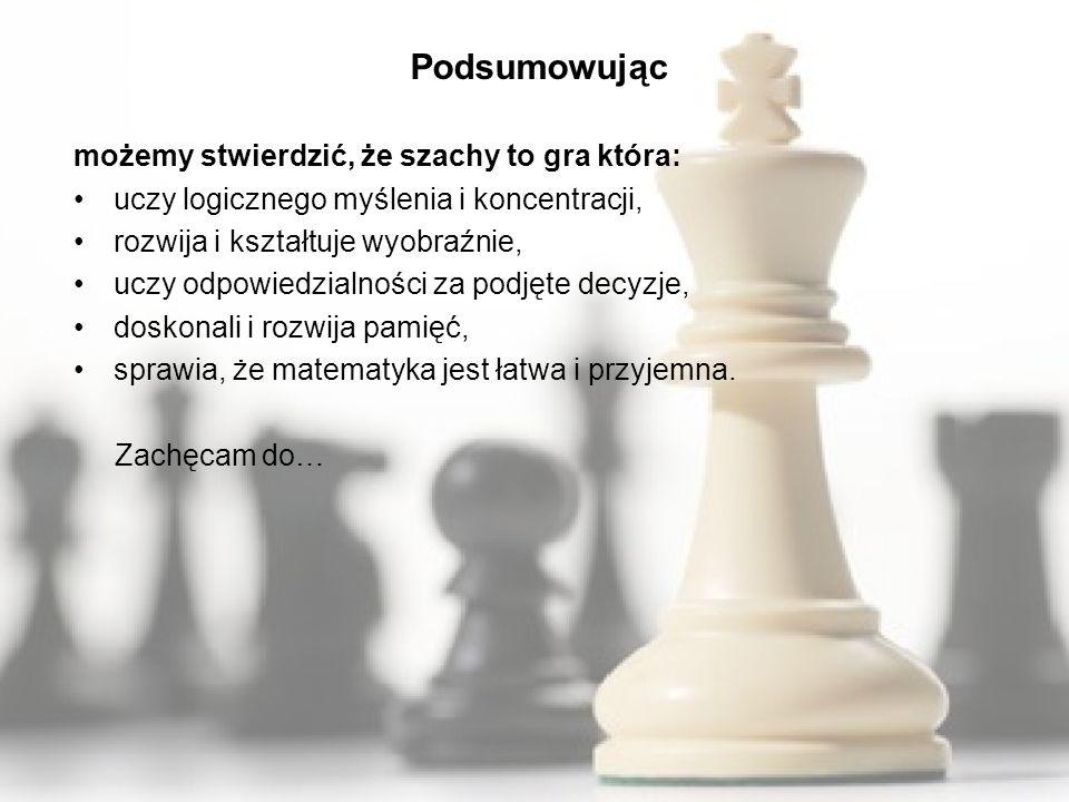 Podsumowując możemy stwierdzić, że szachy to gra która: