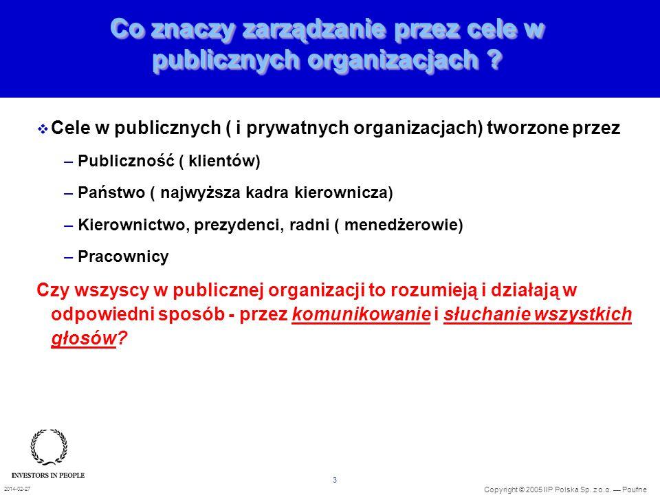 Co znaczy zarządzanie przez cele w publicznych organizacjach