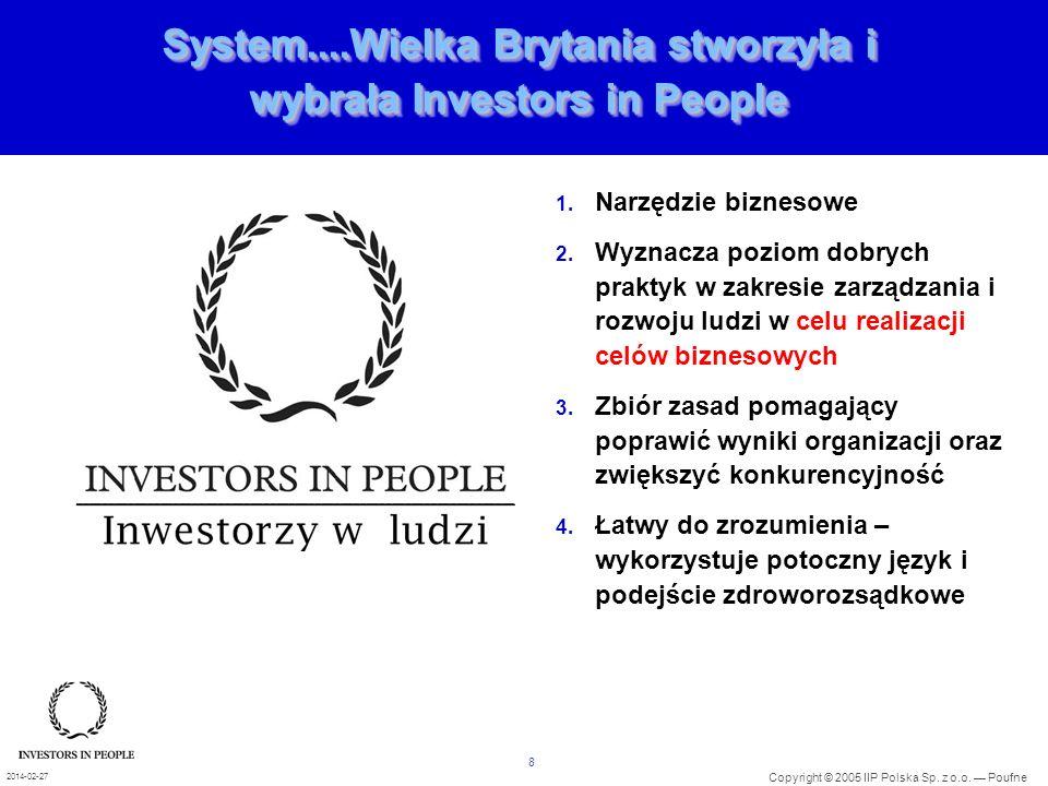 System....Wielka Brytania stworzyła i wybrała Investors in People