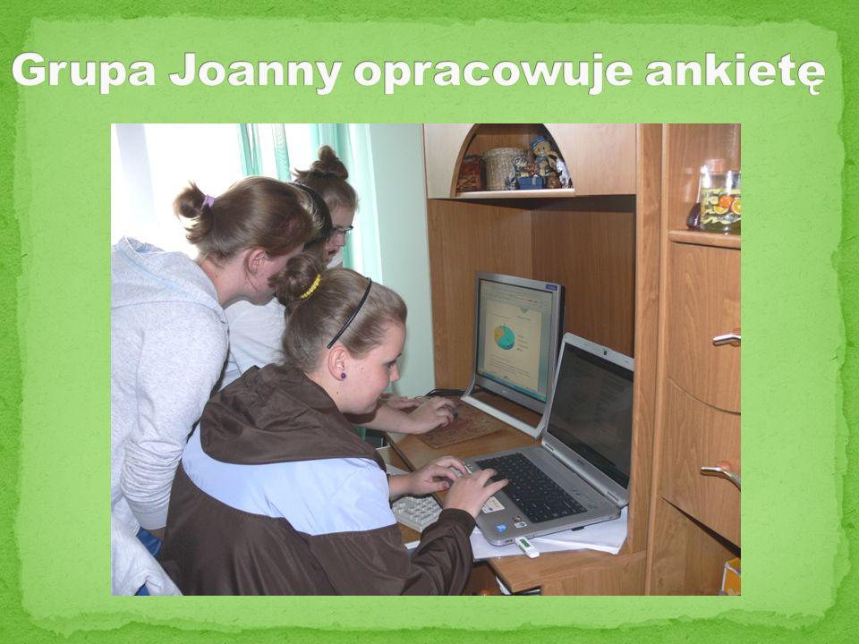 Grupa Joanny opracowuje ankietę