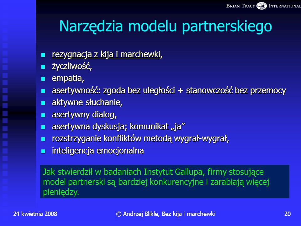 Narzędzia modelu partnerskiego