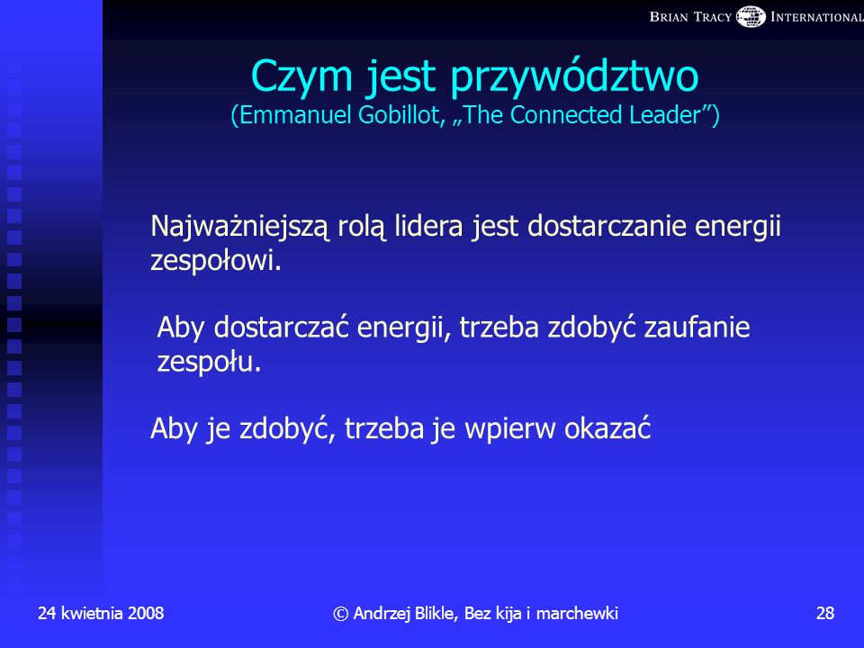 "Czym jest przywództwo (Emmanuel Gobillot, ""The Connected Leader )"