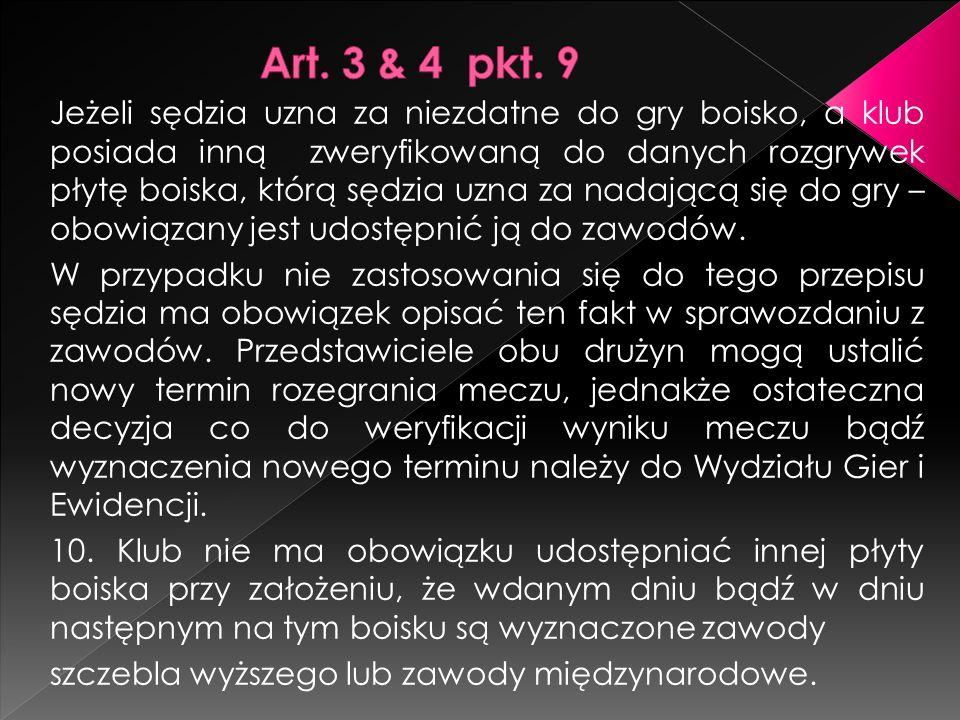 Art. 3 & 4 pkt. 9