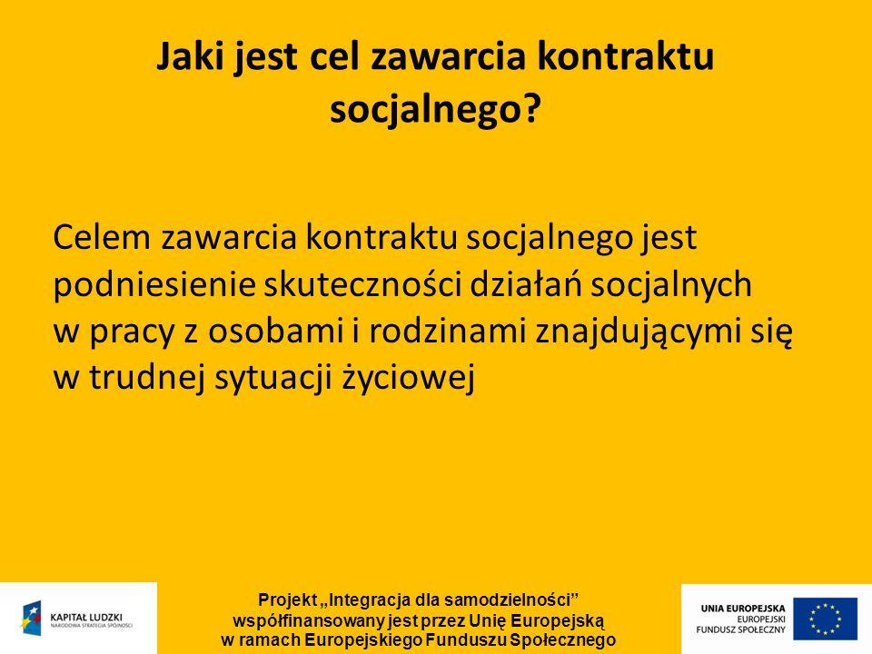 Jaki jest cel zawarcia kontraktu socjalnego