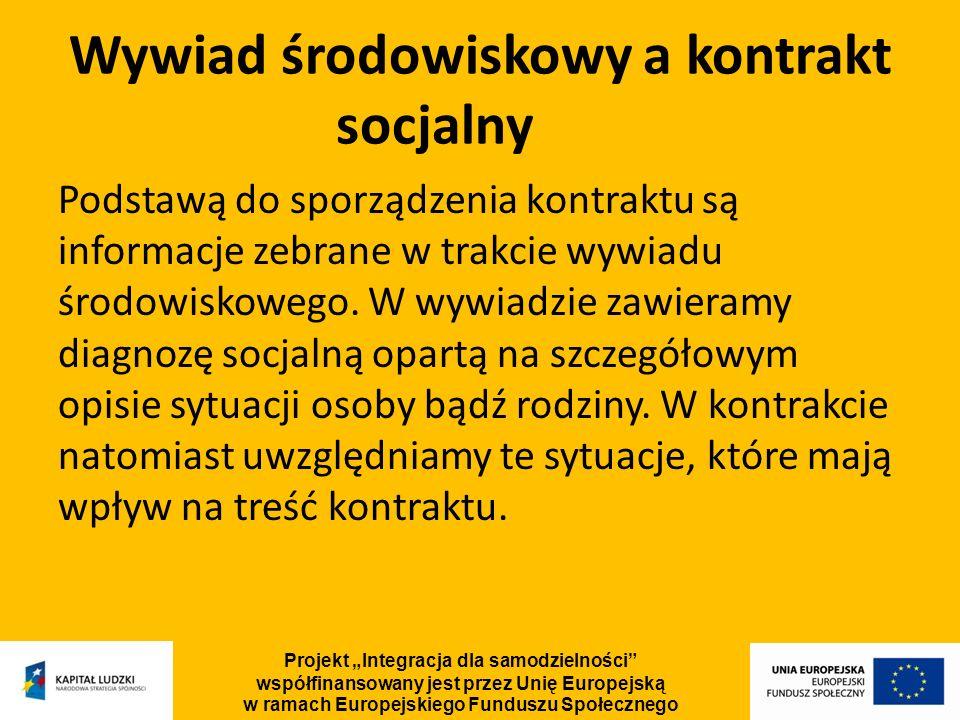 Wywiad środowiskowy a kontrakt socjalny