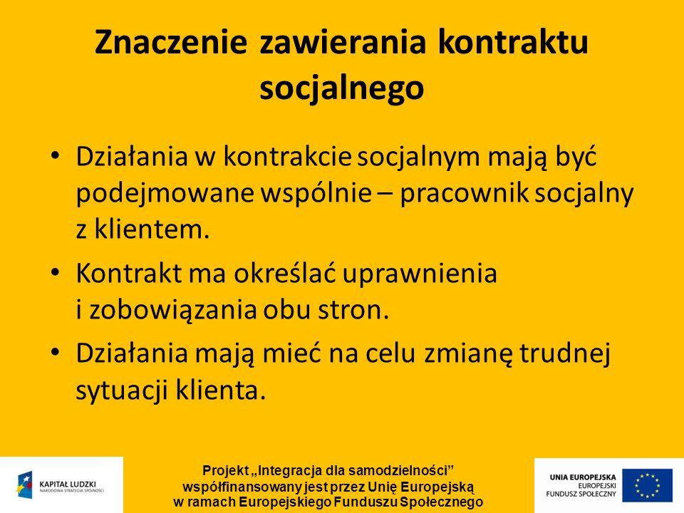 Znaczenie zawierania kontraktu socjalnego