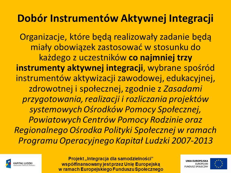 Dobór Instrumentów Aktywnej Integracji