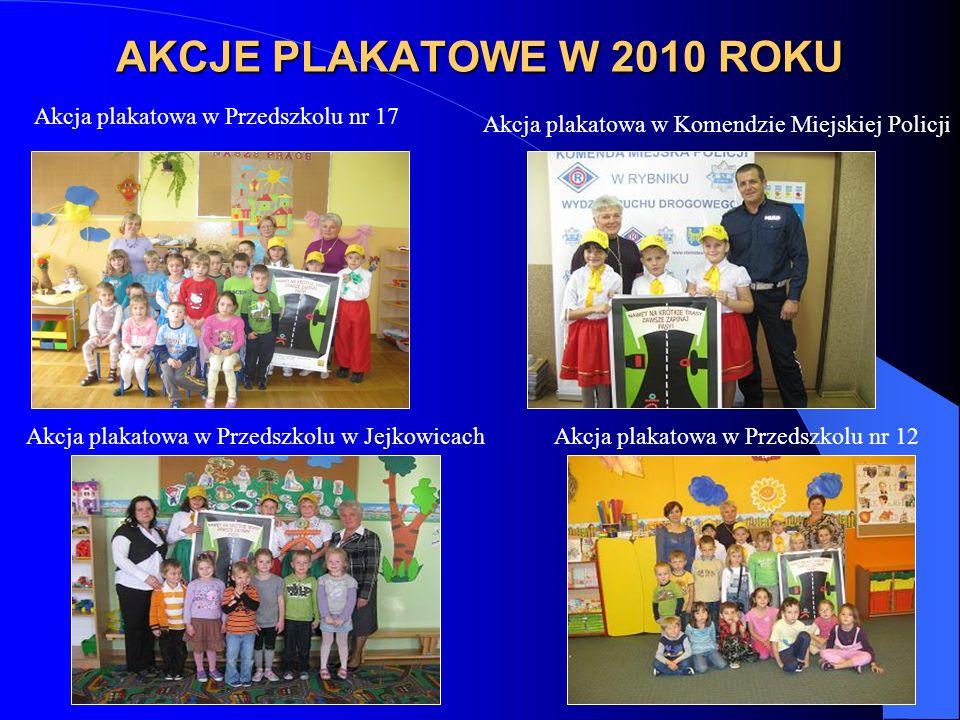 AKCJE PLAKATOWE W 2010 ROKU Akcja plakatowa w Przedszkolu nr 17