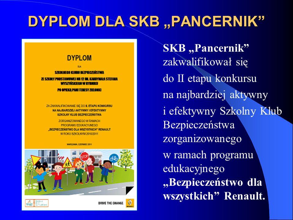 "DYPLOM DLA SKB ""PANCERNIK"