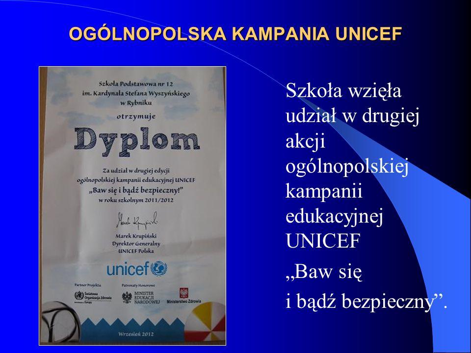 OGÓLNOPOLSKA KAMPANIA UNICEF
