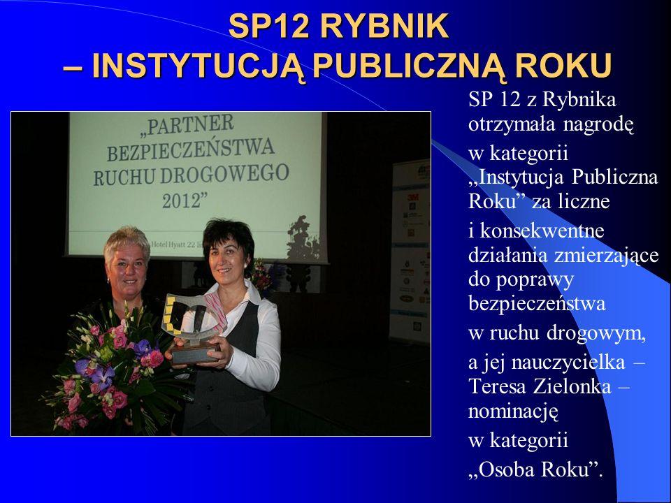 SP12 RYBNIK – INSTYTUCJĄ PUBLICZNĄ ROKU