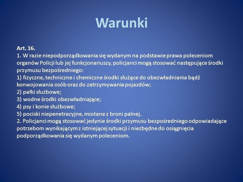 Warunki Art. 16.