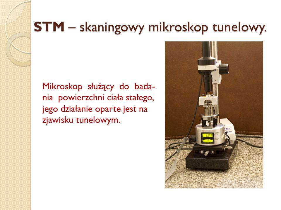STM – skaningowy mikroskop tunelowy.