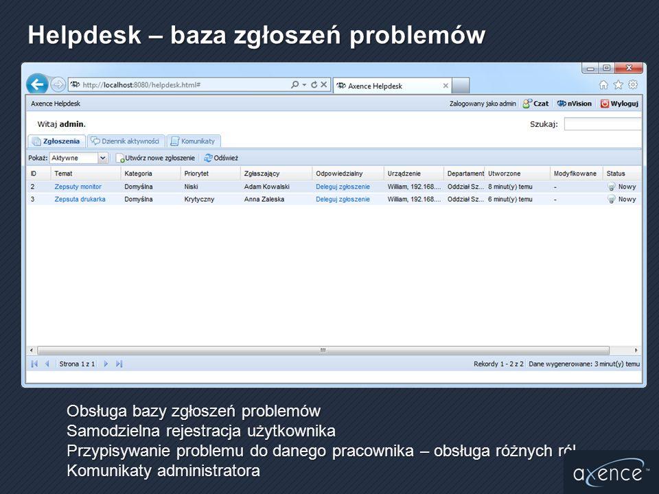 Helpdesk – baza zgłoszeń problemów