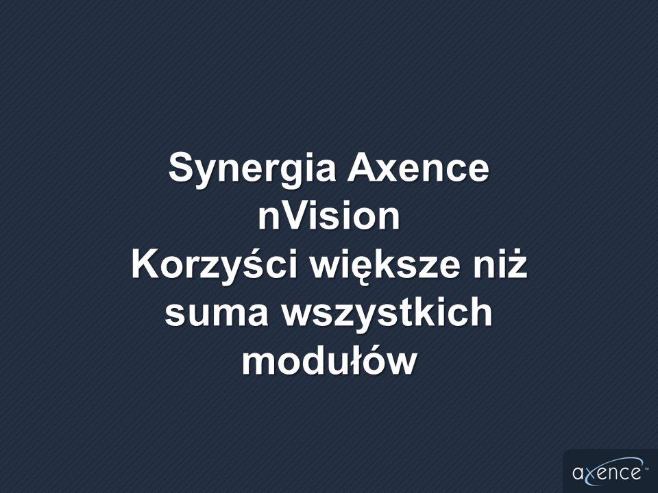Synergia Axence nVision Korzyści większe niż suma wszystkich modułów