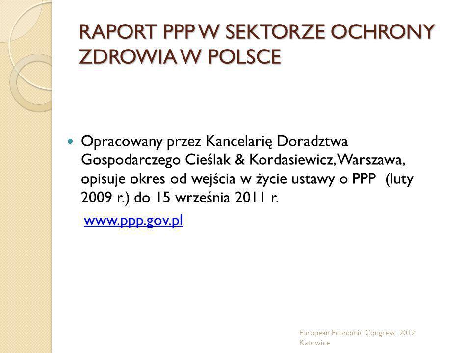 RAPORT PPP W SEKTORZE OCHRONY ZDROWIA W POLSCE