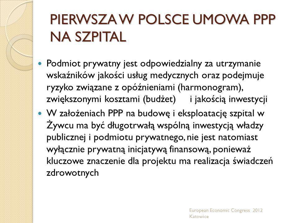 PIERWSZA W POLSCE UMOWA PPP NA SZPITAL