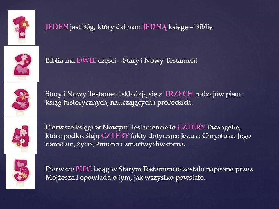 JEDEN jest Bóg, który dał nam JEDNĄ księgę – Biblię