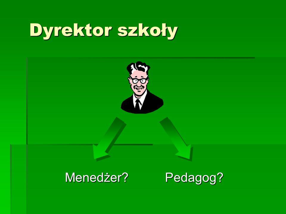 Dyrektor szkoły Menedżer Pedagog
