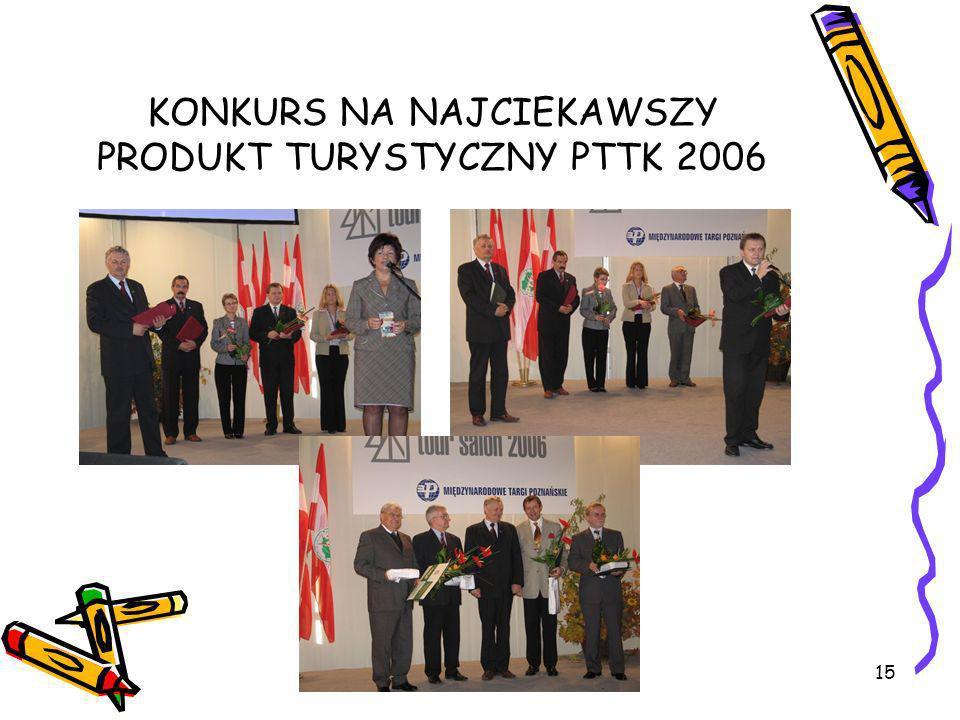 KONKURS NA NAJCIEKAWSZY PRODUKT TURYSTYCZNY PTTK 2006