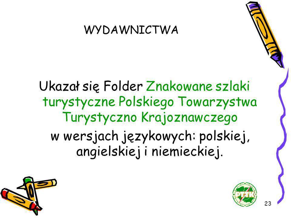 w wersjach językowych: polskiej, angielskiej i niemieckiej.