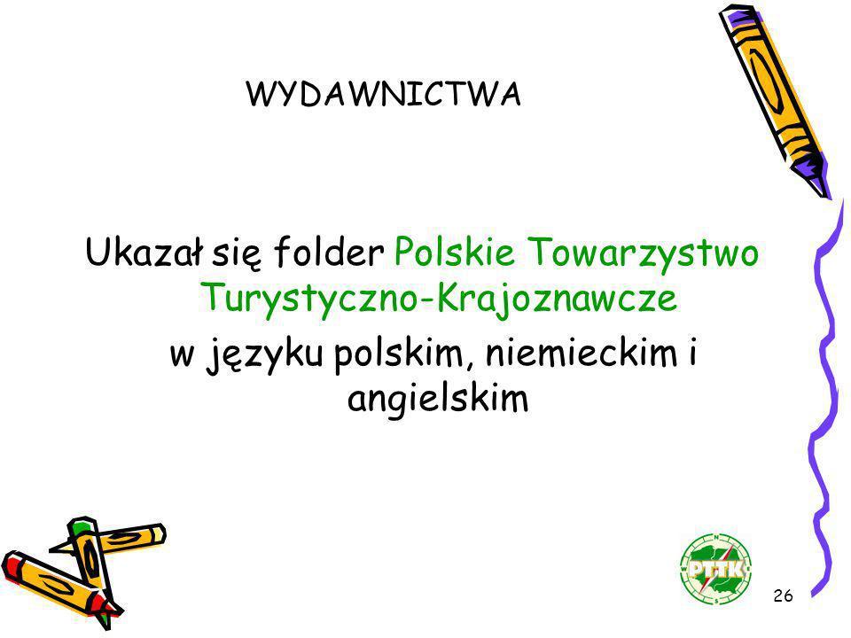 Ukazał się folder Polskie Towarzystwo Turystyczno-Krajoznawcze