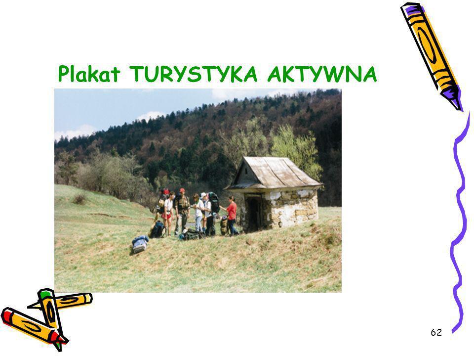Plakat TURYSTYKA AKTYWNA