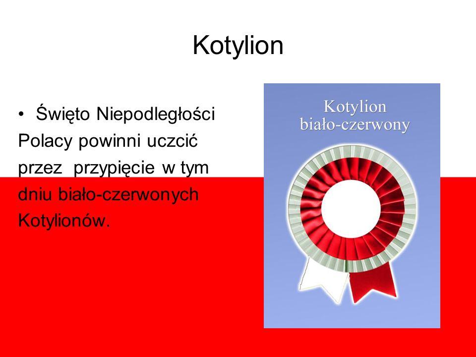 Kotylion Święto Niepodległości Polacy powinni uczcić
