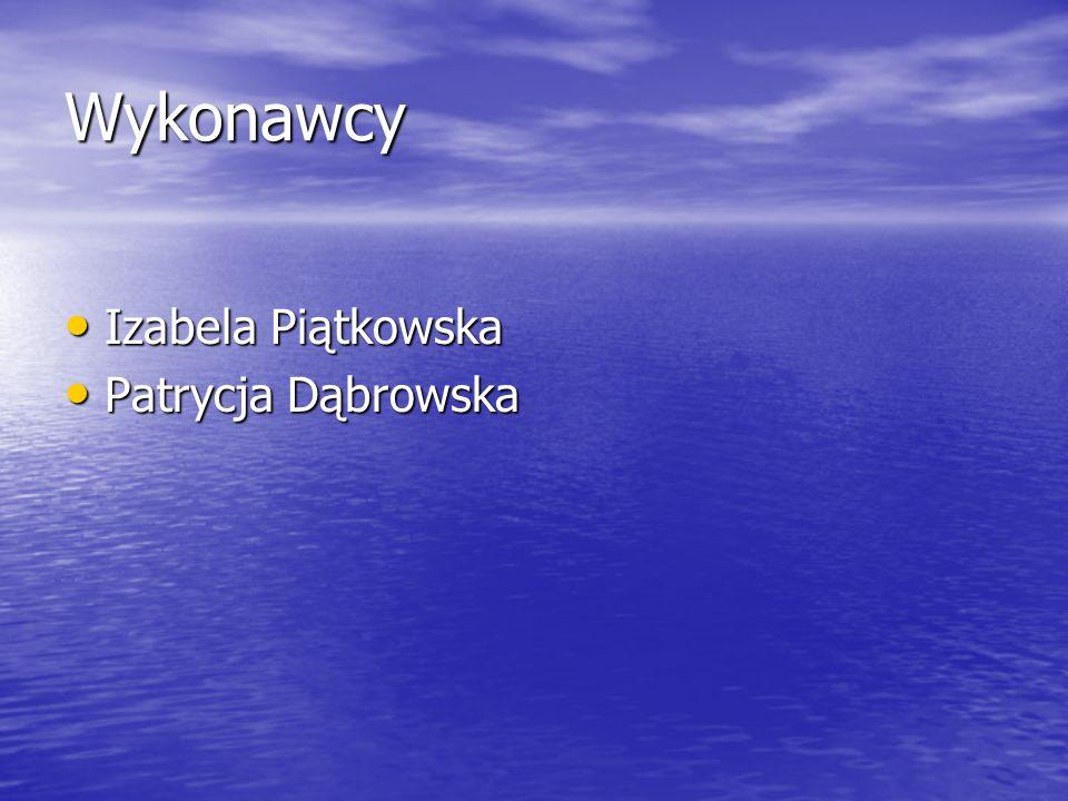 Wykonawcy Izabela Piątkowska Patrycja Dąbrowska