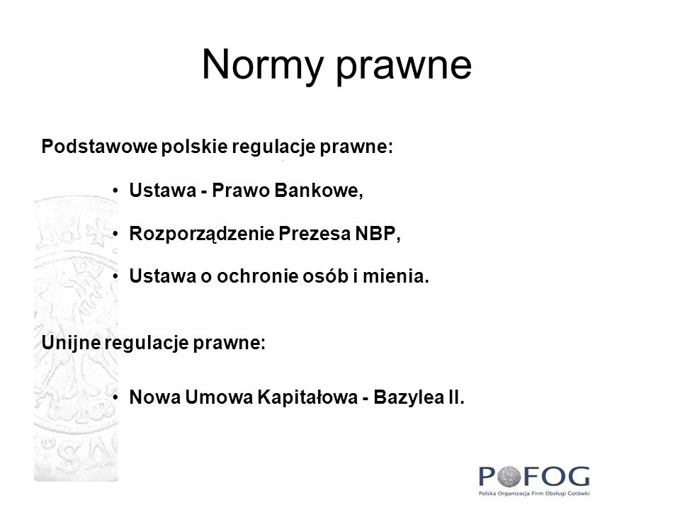 Normy prawne Podstawowe polskie regulacje prawne: