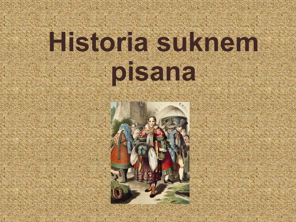 Historia suknem pisana