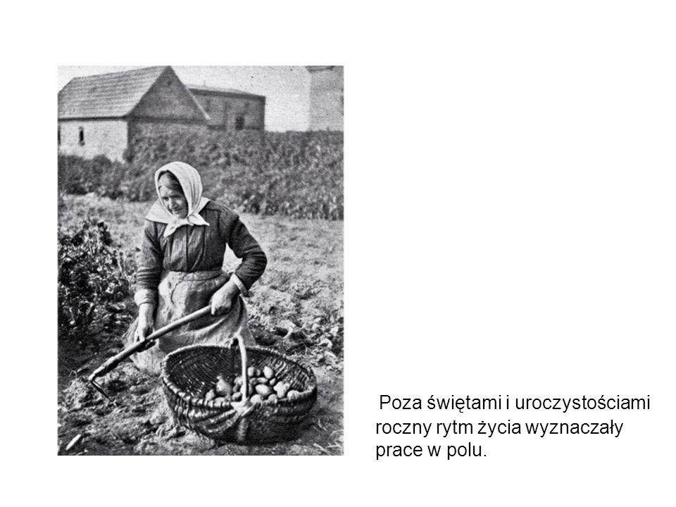Poza świętami i uroczystościami roczny rytm życia wyznaczały prace w polu.