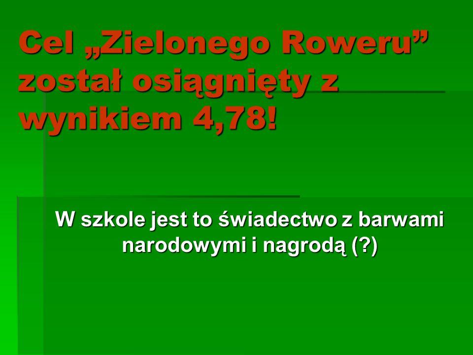 """Cel """"Zielonego Roweru został osiągnięty z wynikiem 4,78!"""