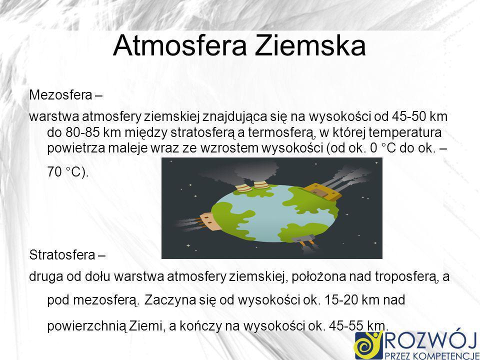 Atmosfera Ziemska Mezosfera –