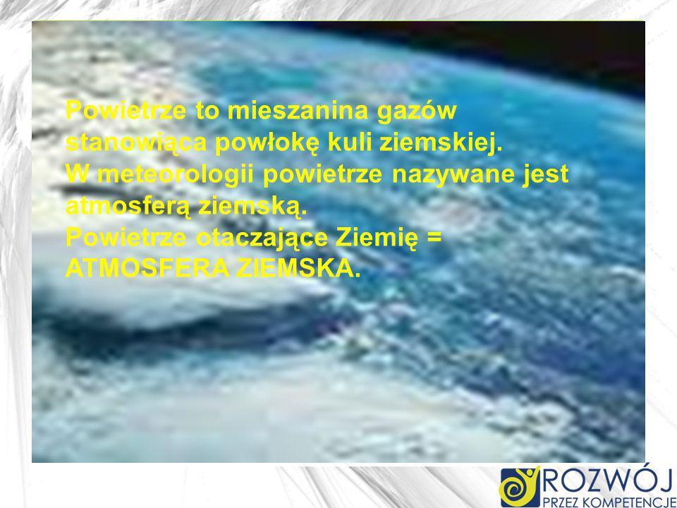 Powietrze otaczające Ziemię = ATMOSFERA ZIEMSKA. w Tablicy Mendelejewa