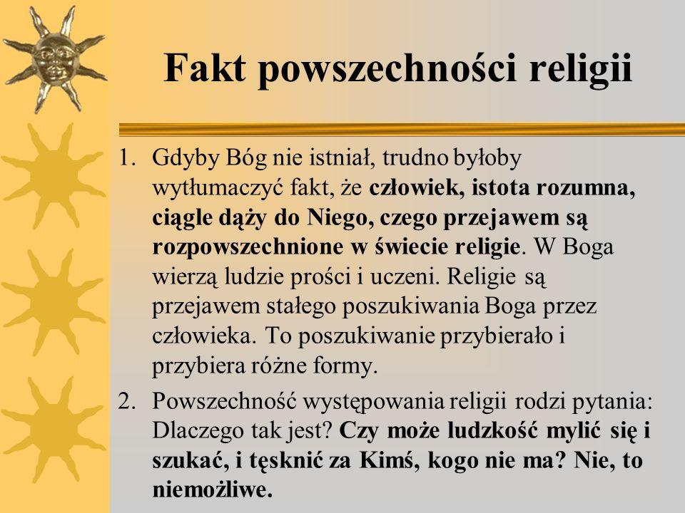 Fakt powszechności religii
