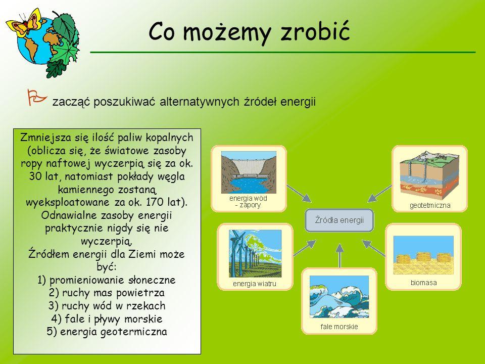 Co możemy zrobić  zacząć poszukiwać alternatywnych źródeł energii