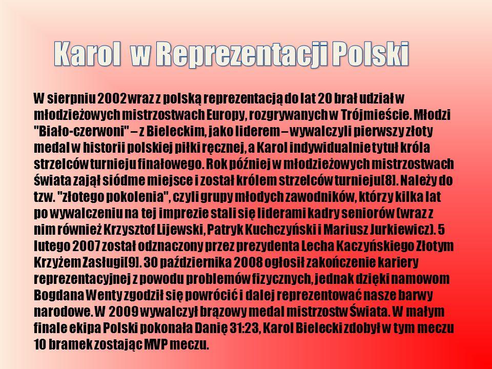 Karol w Reprezentacji Polski