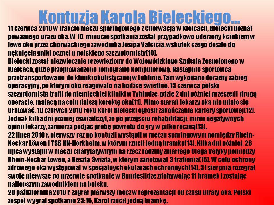 Kontuzja Karola Bieleckiego…