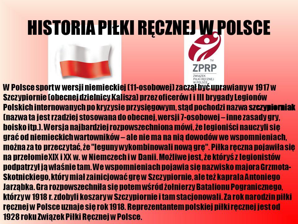 HISTORIA PIŁKI RĘCZNEJ W POLSCE