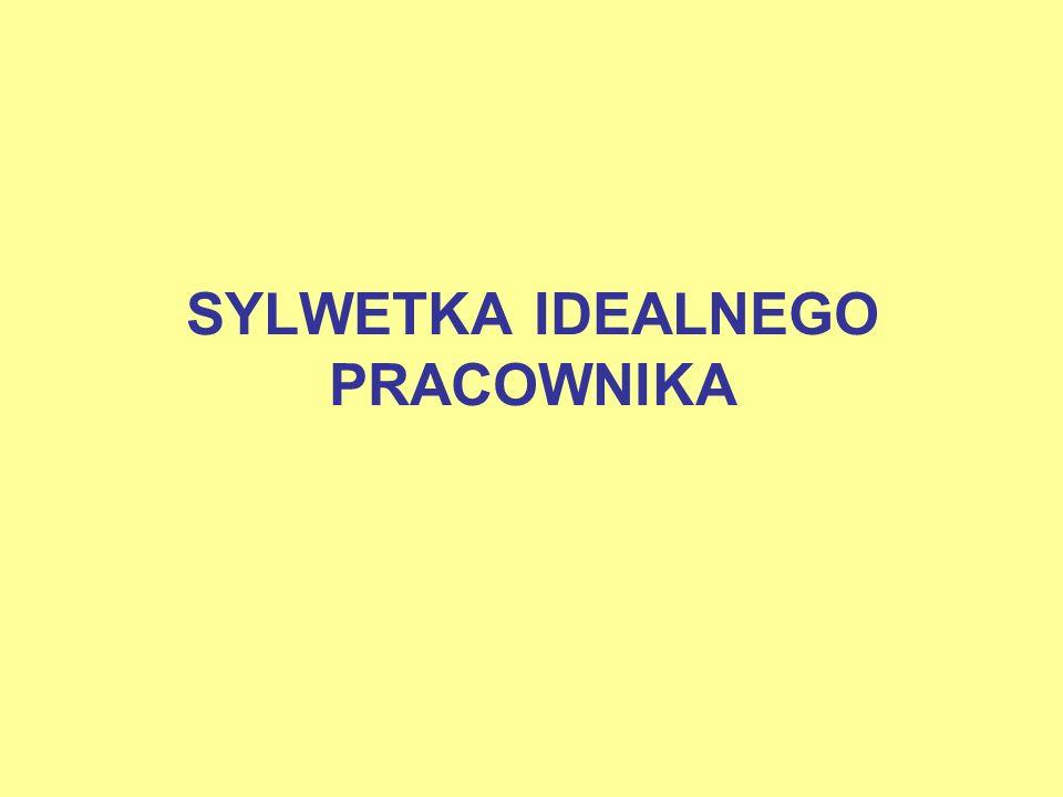 SYLWETKA IDEALNEGO PRACOWNIKA