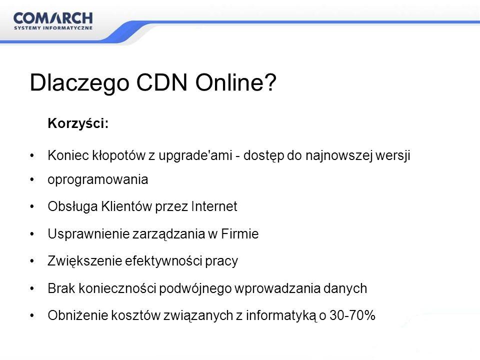 Dlaczego CDN Online Korzyści: Koniec kłopotów z upgrade ami - dostęp do najnowszej wersji. oprogramowania.